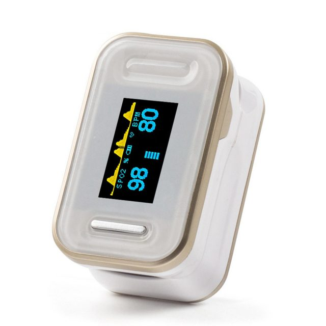 Fingertip Pulse Oximeter with LCD Display